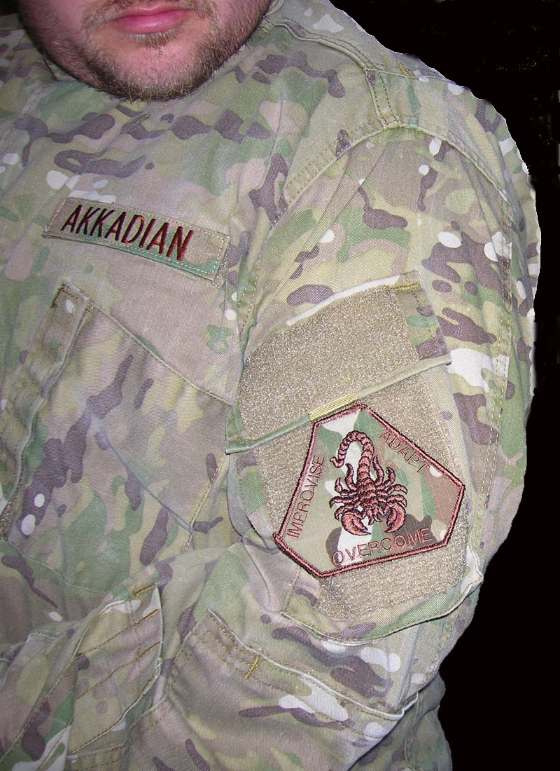 team akkadian paintball patch