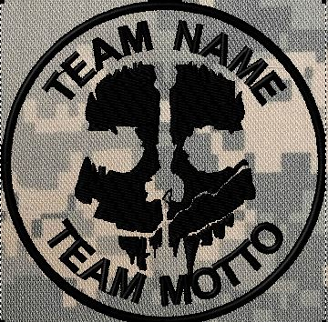 TEAM PATCH COD GHOST