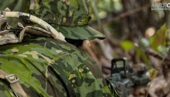 Multicam Tropic material on uniforms