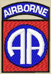 Airborne Military Patch - full color