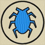 Blue Beetle Velcro Patch