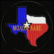 Molon Labe Patch Texas Full Color Black