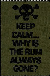Keep Calm Why is the rum always gone velcro patch