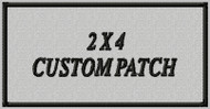 custom embroidered patch 2 x 4