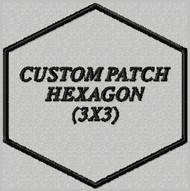 custom patch hexagon shape