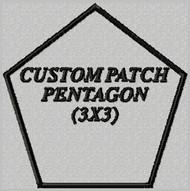 custom embroidered patch pentagon shape