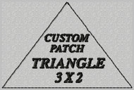 custom embroidered patch triangle