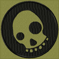 Scary Skull Funny Morale Patch