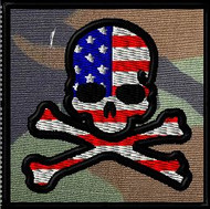 american jolly roger velcro patch
