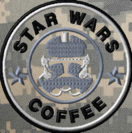 Starwas and coffee custom velcro patch