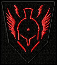 COD Advanced warfare sentinel RED Custom patch