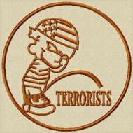 Piss on Terrorists funny custom patch