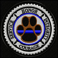 K9 Honor Thin Blue Line Edition Velcro Patch