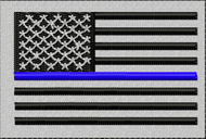 USA Blue Line Patch in SWAT colors