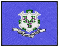 Connecticut Flag Patch Full Color