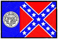 Georgia Flag Patch Full Color
