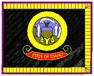 Idaho Flag Patch Full Color