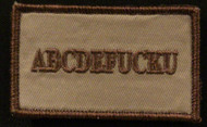 ABC funny velcro patch