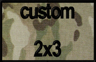 custom 2x3 velcro patch