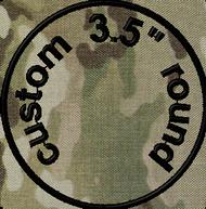 3.5in round custom velcro patch