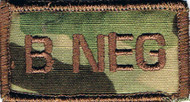 B Neg Blood Type Patch
