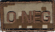 O Neg Blood Type Patch