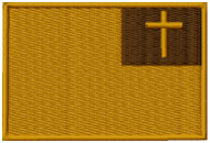 Christian Flag Velcro Patch Multicam