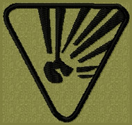 Danger Explosion Velcro Patch