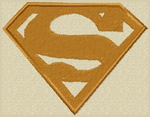 superman VELCRO® Brand patch in tans