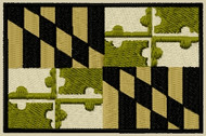 Maryland State Flag Patch subdued