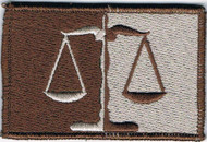 911 Scales of Justice Patch Tans