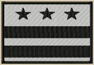 DC Embroidered Flag Patch ACU bl/sil