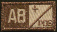 type 2 AB Pos Blood Type Velcro patch