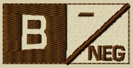 Type 2 B Neg Blood Type PAtch