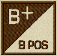 B Pos type 3 Blood type patch
