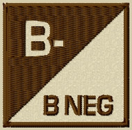 Custom Bneg type 3 velcro patch