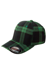 Black/Grey Tartan Plaid Cap