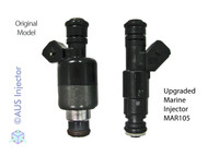 Comparison OEM (left) vs Upgrade Fuel Injector (right)