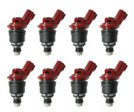 Set of 8 Racing Performance Fuel Injectors 550 cc/min at 43 PSI