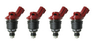 Set of 4 Racing Performance Fuel Injectors 650 cc/min at 43 PSI