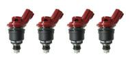 Set of 4 Racing Performance Fuel Injectors 750 cc/min at 43 PSI