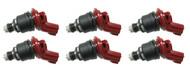 Set of 6 Racing Performance Fuel Injectors 750 cc/min at 43 PSI
