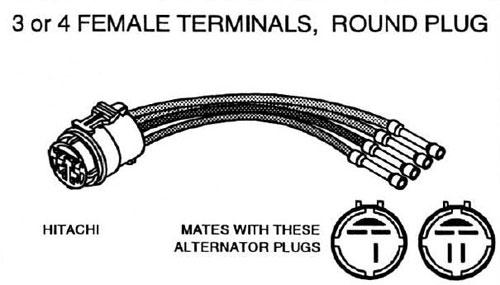 Hitachi Alternator Repair Connector