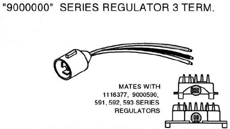 Delco Remy 9000000 Series Regulator Connector