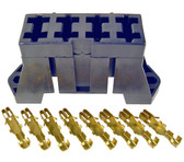 4 Slot Fuse Block for ATO and ATC Blade Fuses With Brass Terminals