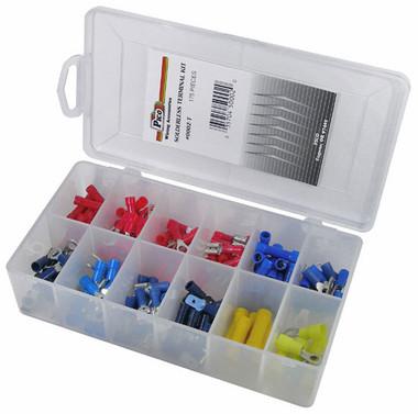 175 Piece Assorted Solderless Electrical Terminal Kit