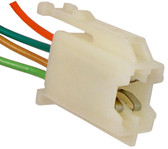 GM Front Radio Speaker Connector White 4 Leads