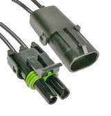 Weatherpack 2 Way Male Female Connector Set
