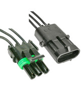 Weatherpack 3 Way Male Female Connector Set