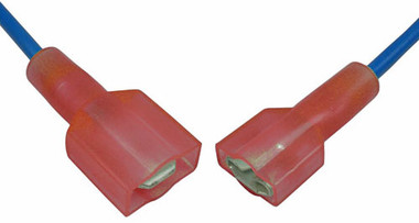 2 Pc Quick Disconnect Set Red 22-16 AWG Wire Size